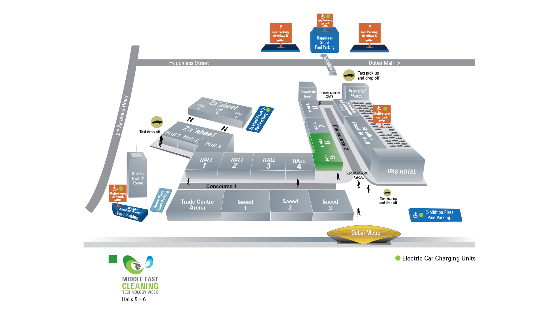 Venue Map Middle East Cleaning Technology Week