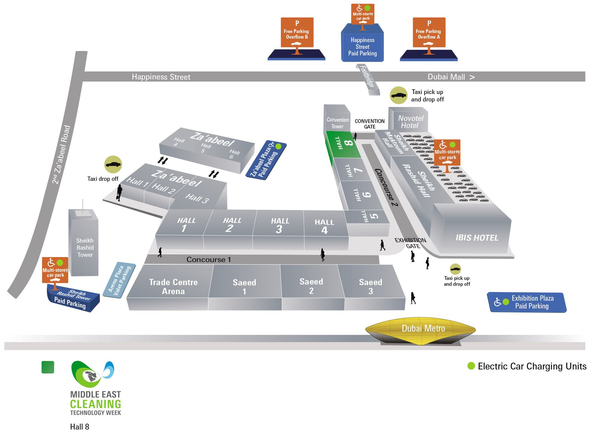 Middle East Cleaning Technology Week Venue Map